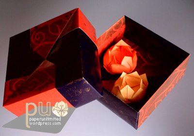 the bigger origami box, by Fuse, with two lotus flowers inside :)