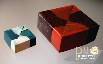 two origami boxes, by Fuse