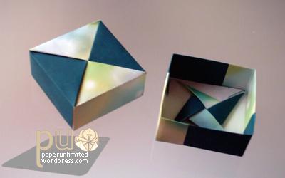 modular origami box i paper unlimited