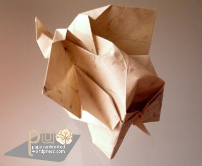 KAWAHATA's origami elephant