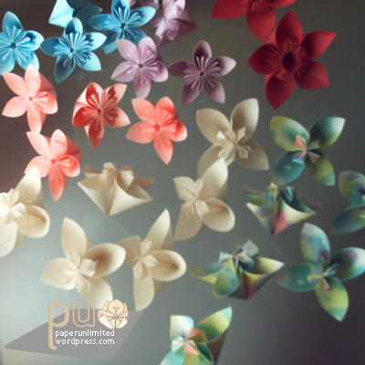 origami, flower petal units for kusudamas