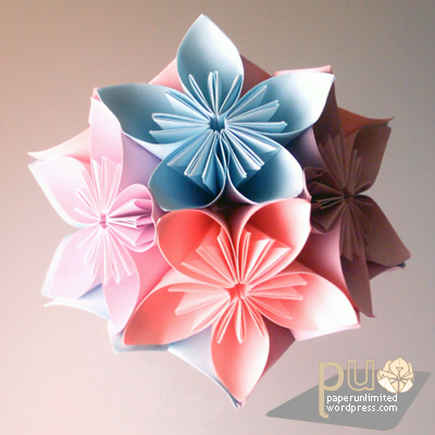 japanese traditional origami kusudama