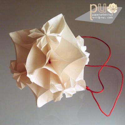 Kusudama bloom version 4 petals paper unlimited bloom origami kusudama mightylinksfo