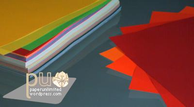 origami paper, single face coloured