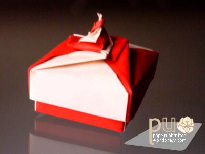 origami spiral box 1a