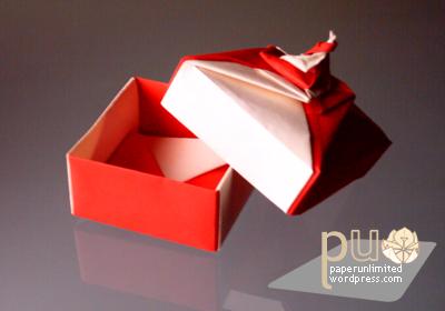 origami spiral box 1b