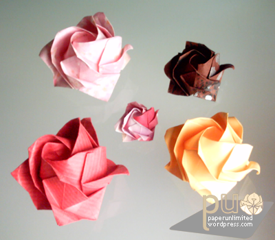 Origami Roses Kawasaki Rose You Can Find Step By Instructions