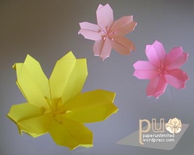 Flowers modular flowers part i paper unlimited sakura cherry blossom mightylinksfo