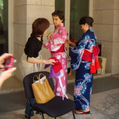 me almost completely dressed on a yukata…