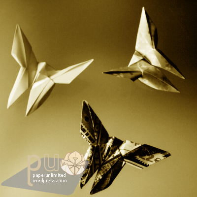 YOSHIZAWA Akira butterfly variation by Fátima Granadeiro (portuguese origamist)
