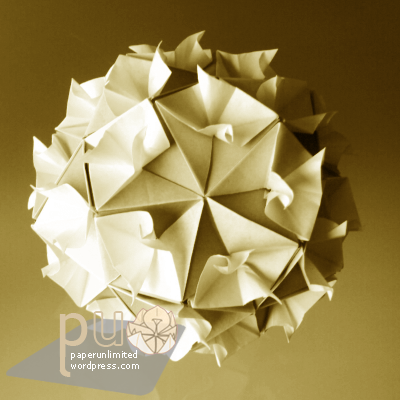 30 double unit kusudama by FUSE; curly version