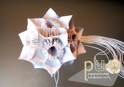 butterfly or flower kusudama