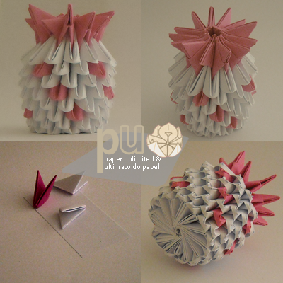 3d origami pineapple girl