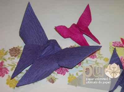 butterflies in crepe paper