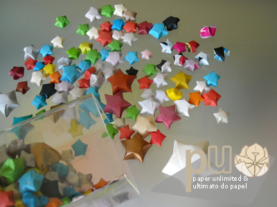 misc paper 3D origami stars