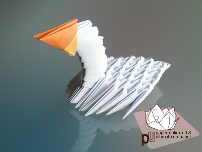 3d origami mini diamond patern swan tutorial - YouTube | Dessin ... | 300x400
